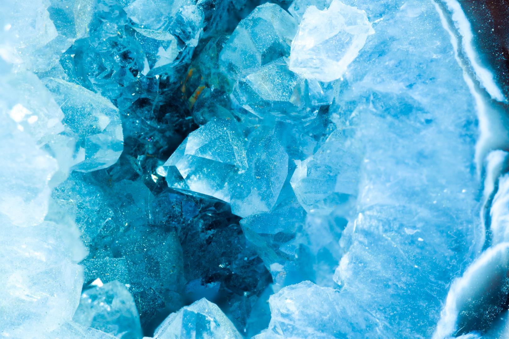 Blauwe edelstenen