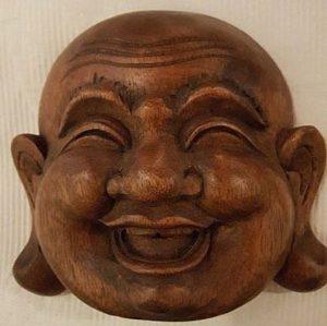 Boeddha hoofd teakehout