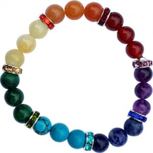 1. Chakra-armband elastisch