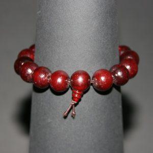 Tibetaanse Mala armband 15 houten kralen