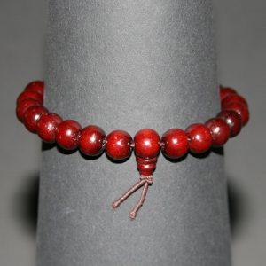 Tibetaanse Mala armband 22 houten kralen