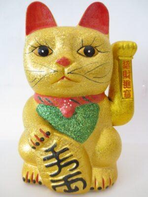 Lucky Cat glitter-goud