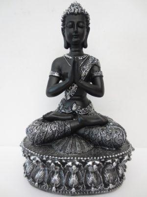 Tibetaans-Boeddha zwartzilver-1