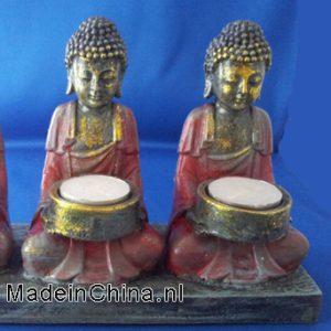 3 -boeddha's waxinehouder blz