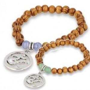 Houten armband van Agaat of Aventurijn OHM