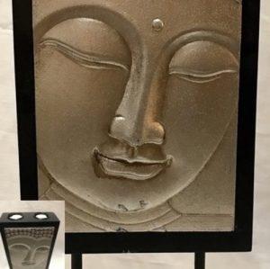 Boeddha wand met waxine blz