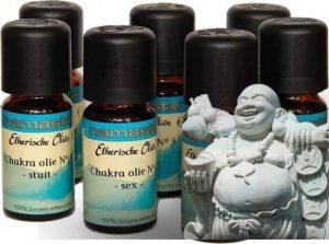 Chakra olien Set van zeven flesjes