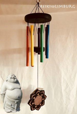 Zeven kleuren 7 chakras windgong Prof.