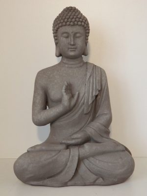 Garden boeddha abhayamudra medium. Hoogte 40 cm. Granite.