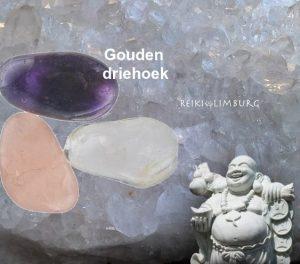 Gouden driehoek edelsteen geslepen