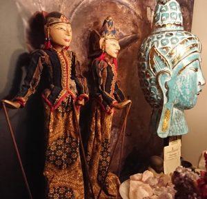 Set Wayang poppen uit Bali 50cm.