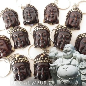 Meditatie Boeddha-hoofd-sleutelhanger