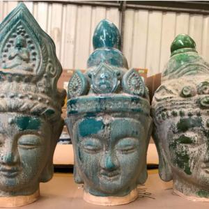 Boeddha hoofd aardewerk