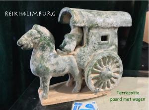 Paard en wagen terracotta