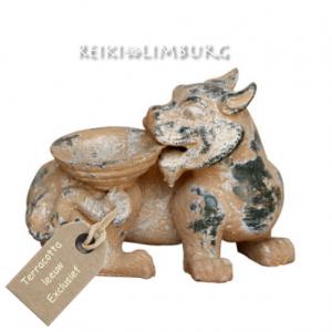 Terracotta leeuw