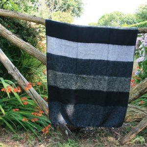 Omslagdoek kleur zwart-grijs