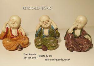 Kind Monnik horen-zien-zwijgen