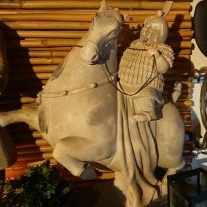 Krijger met paard..