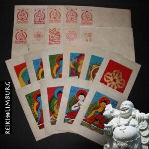 Set van 10 verschillende kaarten