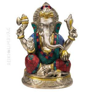 Ganesha beeld met mozaïek decoratie -- 20 cm