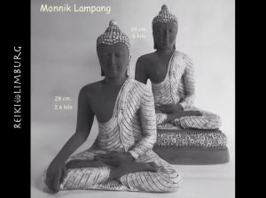 Boeddha Lampang groo 34 cm. en klein 28 cm