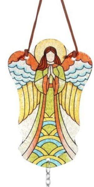 Engel van glas geel