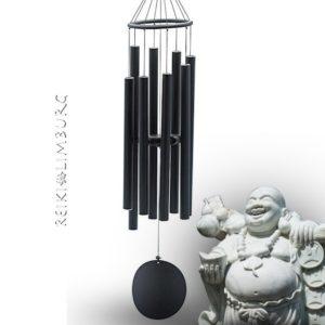 Windgong zwart 91 cm.