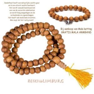 Mala ketting plus armband Sandelwood