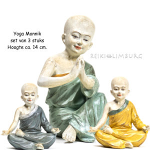 Monnik Yoga set van 3