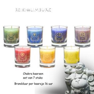 Chakra kaarsenset 7 stuks