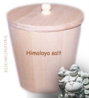 Gratis houten pot voor Himalaya Salt