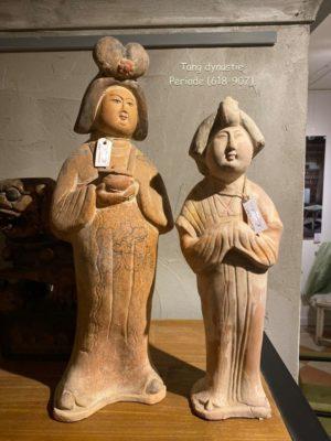 Dynastie Tang Lady groot en middel