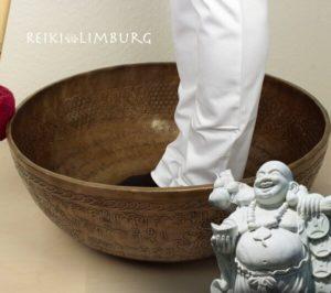 Voet klankschaal voeten van Boeddha