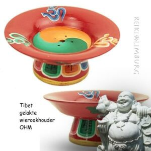 Tibet gelakte wierookhouder hout
