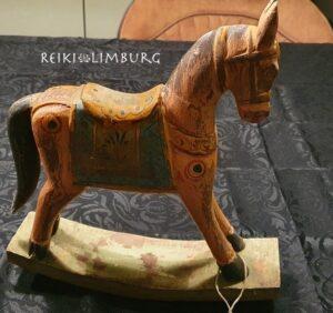 Hobbelpaard hout vintage