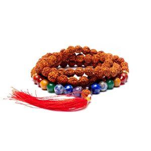 Rudraksha zaad en 7 chakra edelstenen